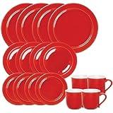 Emile Henry 16-Piece Dinnerware Set, Service for 4, Cerise