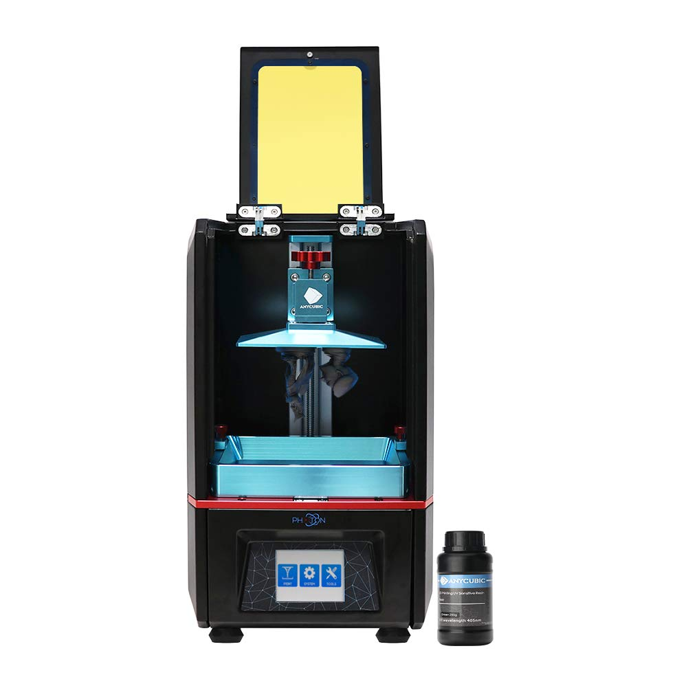 TRIGORILLA ANYCUBIC Photon LCD UV 3D Printer Build Size 115x65x115 mm with 2.8' Touch Screen and resin Off-line Print