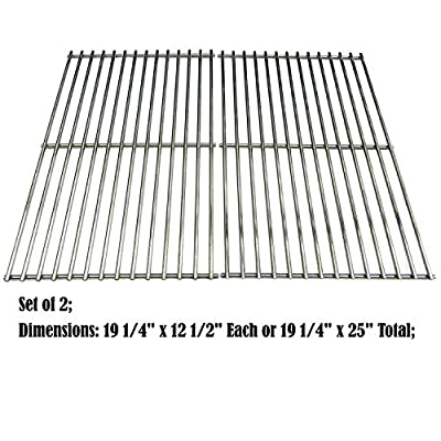 Direct store Parts DS113 Solid Stainless Steel Cooking grids Replacement Brinkmann; Charmglow; Turbo Gas Grill
