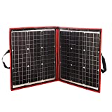 DOKIO 80 Watts 12 Volts Monocrystalline Foldable Solar Panel with Inverter Charge Controller