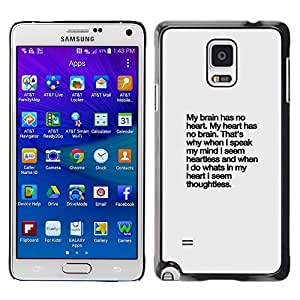 Plastic Shell Protective Case Cover || Samsung Galaxy Note 4 SM-N910 || Inspiring Text Inspirational @XPTECH