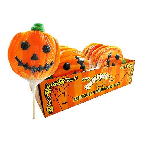 (Halloween 4-Inch Pumpkin Pops, 12-Piece Box)