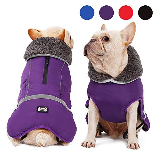 UPHAN Dog Cold Weather Coats for Small Medium Large Dogs Outdoor Indoor Activities-Warm Dog Winter Clothes Jackets - Waterproof Windproof Reflective Retro Style Dog Vest -