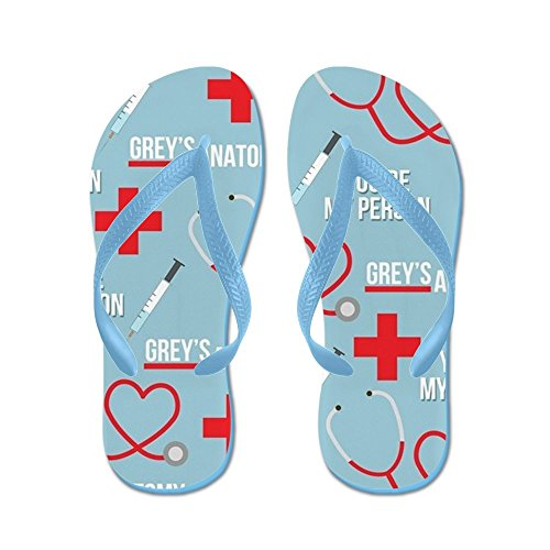 CafePress Greys Youre My Person - Flip Flops, Funny Thong Sandals, Beach Sandals Caribbean Blue