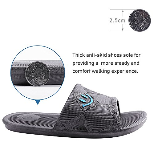 Slipper Besidestar And Bath Smile Anti Slippers Sandals Men Leisure Open Women Gray Unisex House Indoor For slip Toe xwwqSpHC