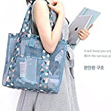 Womens Mesh Lightweight Tote Hand,Oahu XXL Fashion Mesh Beach Bag Tote Shoulder Bag Great for the Beach or Stadium Events, Large Pockets,Foldable Travel Bag Waterproof Travel Duffel Bag (Blue)…