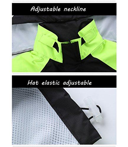 Mrw Vêtement de Pluie imperméable Ensemble de Pantalons pour Adultes (Color : S)