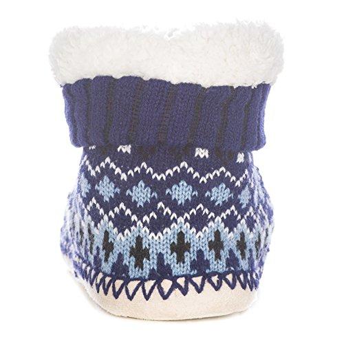 Womens Navy Boot Slippers Indoor Mount Arctic Noble blue 5wIqY1H