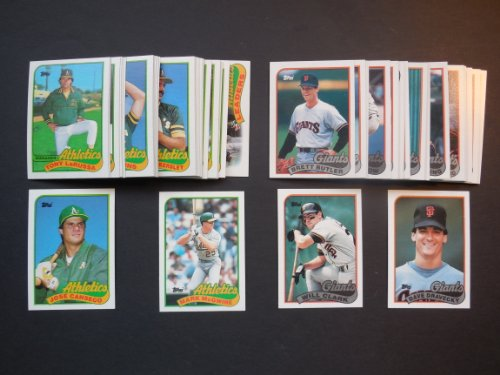 San Francisco Giants Team Ball (1989 Oakland Athletics & San Francisco Giants Topps Baseball Team Sets with Year End Traded Cards (Earthquake World Series))