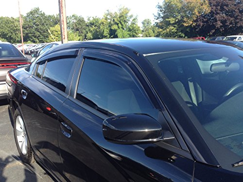 JSP 218046 Dodge Charger 2011-2016 Side Window Wind Deflector Rain Guard Visor Smoke Color: NOT In-Channel, Above-Window Tape Install. See Features