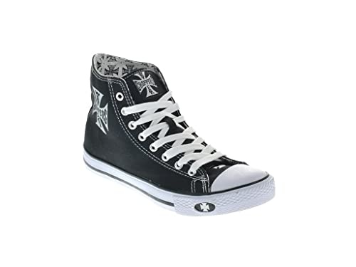 West Coast Choppers Shoes Warrior Low Tops, Farbe:Black, Größe:43