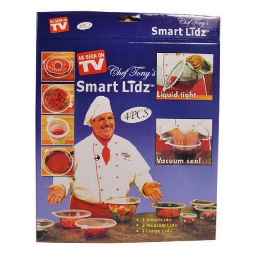 4 Piece - As Seen on TV - Chef Tony's Smart Lidz