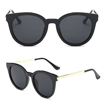 484ebb516391 Image Unavailable. Image not available for. Color  JAGENIE Retro Women Flat  Lens Mirrored Metal Frame Glasses ...