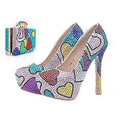 High Heel Cinderella Pumps with Matching Bag