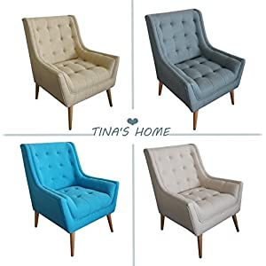 Mid Century Mordern Tufted Accent Wingback Chair Armchair