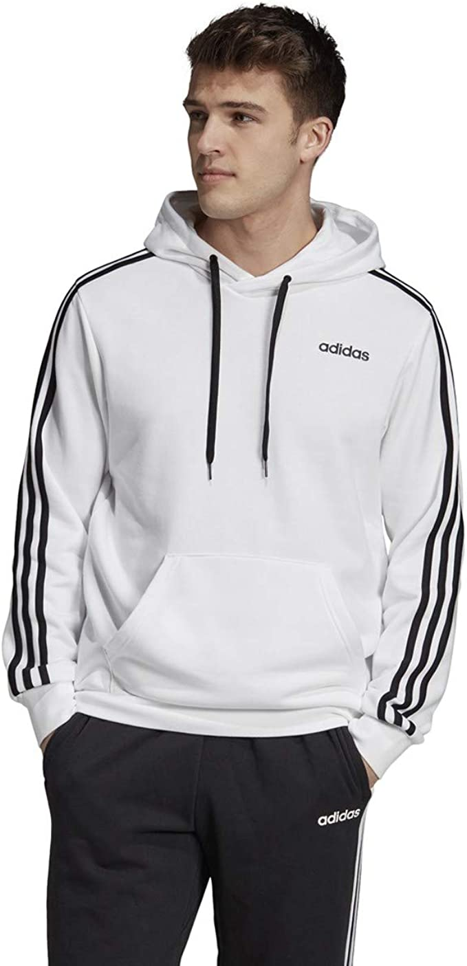 adidas Men's Essentials 3 stripes French Terry Pull over