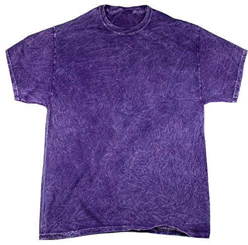 Colortone Mineral Wash T-Shirt XL Purple - Purple Acid Wash