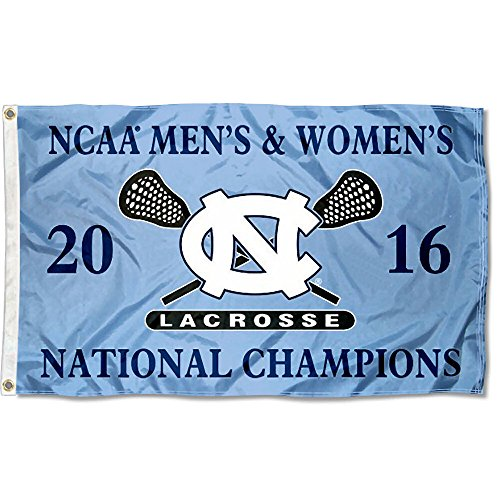 North Carolina Tar Heels Men's and Women's Lacrosse Champs Flag by College Flags and Banners Co.