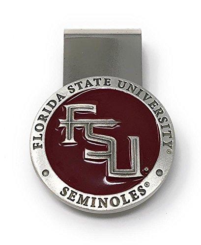 (Heritage Metalwork FSU Florida State University Money Clip Steel with Pewter Emblem)