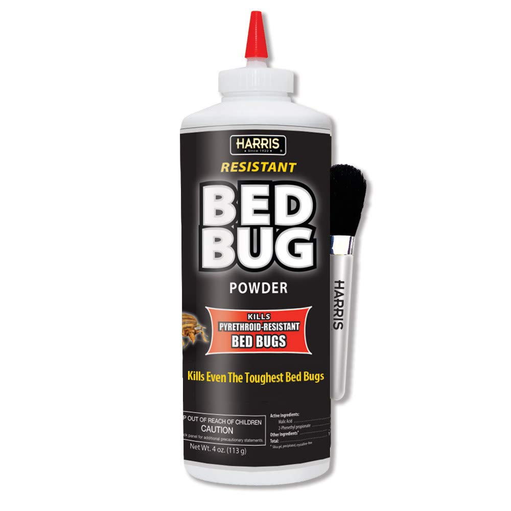 Harris Bed Bug Killer Powder, 4oz with Application Brush