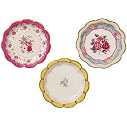 Talking Tables Truly Scrumptious Disposable Plates, 12 count, 6.5 inches for Tea Party or Birthday