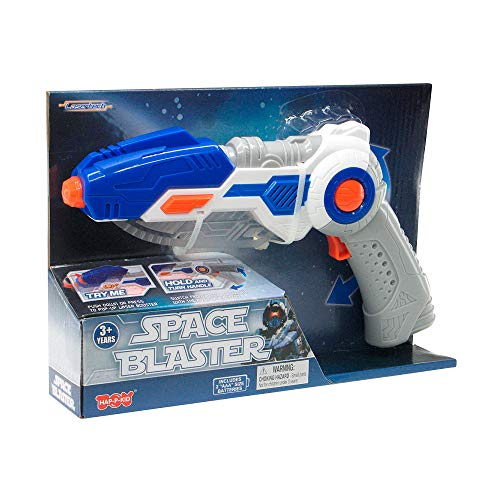 Lasertech Space Blaster Toy Gun and Sword 2-in-1 Light Up Weapon for Kids - Blue]()