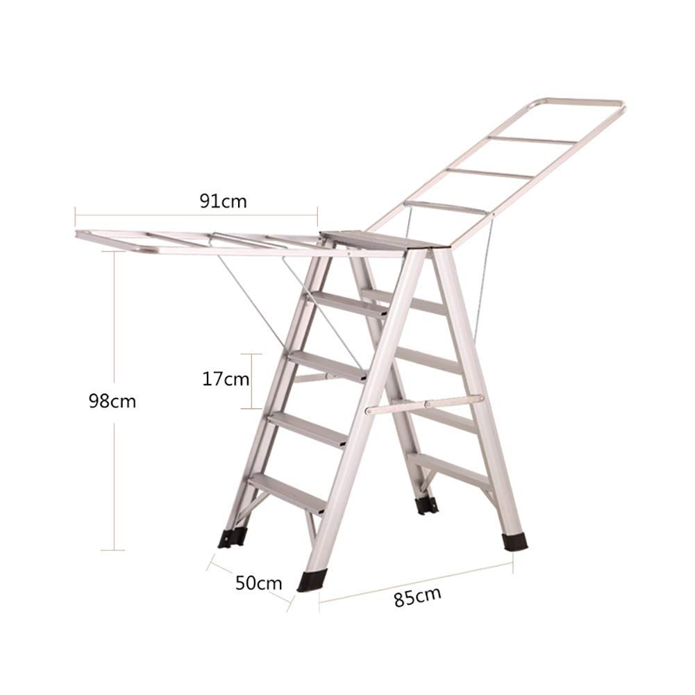 Silver ZLL Household Step Step Step Stool, Photography Folding Step