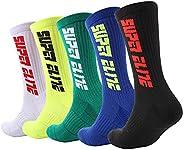 YOUNGBEST Men Socks Men's Cushioned Crew Sock Basketball Running Sports Sock for