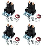 (4) RELAY SOLENOIDS for Western 56131K for Buyers SAM 1306310 4 Post w/ Hardware by The ROP Shop