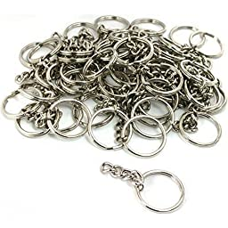 50 Key Chain Craft Wallet Nickel Plated Findings 28mm New