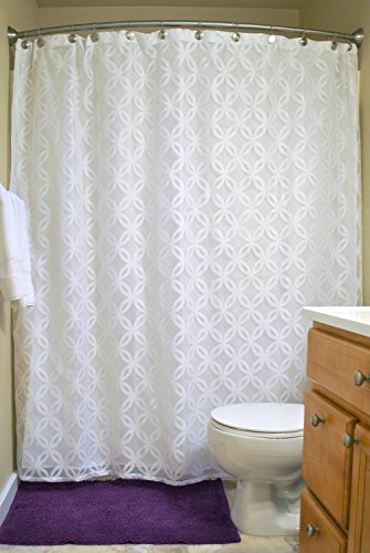 White Fabric Shower Curtain: Amazon.com
