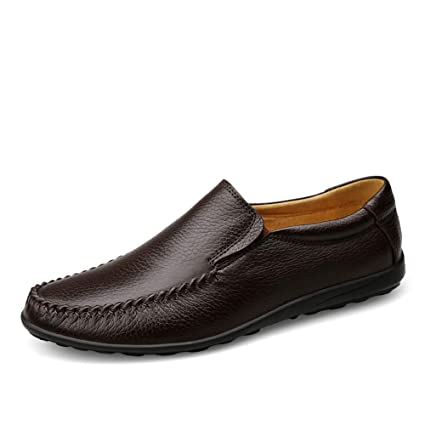 Zapatos Mocasines para hombre 2018 Mocasines de conducción Ocasional Suave y cómodo Resbalón en el paño grueso y suave de invierno Dentro de la bota ...