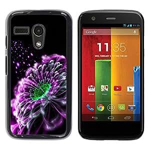 El Whisper Of Purple Mist - Metal de aluminio y de plástico duro Caja del teléfono - Negro - Motorola Moto G 1 1ST Gen