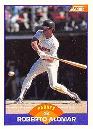 Amazoncom 1989 Score Baseball 232 Roberto Alomar San Diego Padres