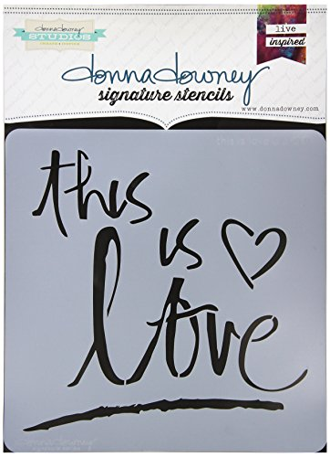 Donna Downey Stencils This is Love Signature Stencils, 8.5' by 8.5'