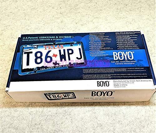 BOYO VTL375TJ Slim Full Frame License Plate Camera w/Trajectory Parking Lines