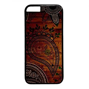 Colorful Stripe Persalized Cover Case for Apple iPhone 6 Black