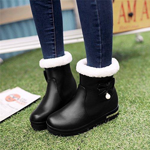 Chaussures fourrure hiver Junior noir enfant pour en enfant coton Chaussures et Bottes en Bottes Bottes Princesse Bottes étudiants School Khskx de de automne sweet Middle PERxqS6wU