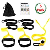 Cheap Bodyweight Fitness Resistance Trainer Kit – Complete Training Straps Kit for Full Body Strength – Easy Quick Setup Workouts Equipment Set – Without Installing Door Stop for Travel Home Gym Outdoors