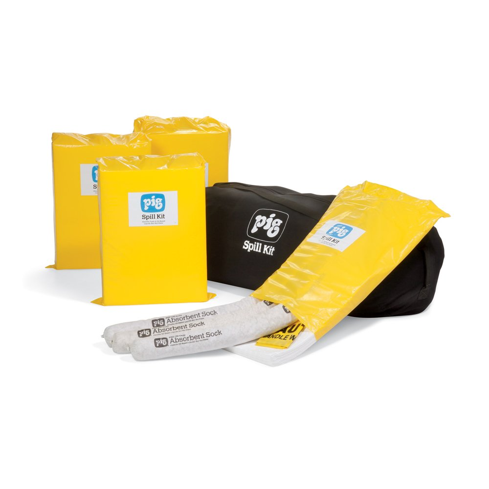 New Pig KIT423 27 Piece Oil-Only Economy Spill Kits in Duffel Bag, 23 Gallon Absorbency by New Pig Corporation