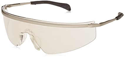 aa47f3b52810 Image Unavailable. Image not available for. Color: MCR Safety T3119AF  Triwear Metal Safety Glasses with Platinum Frame and Indoor/Outdoor Clear  Mirror