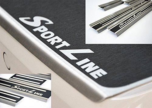 1333-800 WGS Spar-Set SPORTLINE Ladekantenschutz Einstiegsleisten Lackschutz mit ABKANTUNG Titan auf AluNox/®