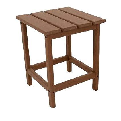 Small Teak Side Table.Amazon Com Gt Rustic End Table Adirondak Teak Square