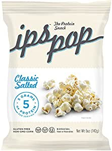 IPS Protein Popcorn | Classic Salted | 5 Ounce (Pack of 6)