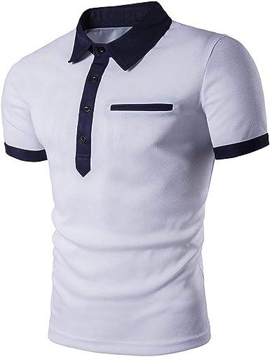 Camisa De Polo para Hombre Camisa Slim Fit De Lisa Verano ...