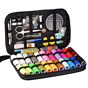 INNOCHEER Sewing Kit with 97 Sewing Accessories, 24 Spools of Thread -24 Color, Mini sewing kit for Beginners,Traveller, Emergency, Whole Family to Mend and Repair