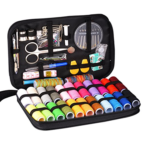 : INNOCHEER Sewing Kit With 97 Sewing Accessories, 24 Spools Of Thread -24 Color, Mini Sewing Kits For Beginners, Traveler, Emergency, Whole Family To Mend And Repair