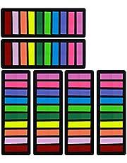 علامات صفحات، علامات تبويب لاصقة 1200 قطعة، علامات اسهم ملونة، علامات ملونة لعلامات الصفحات [10 الوان أساسية] تلتصق بشكل امن، تزيل بنظافة