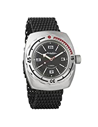 Vostok Amphibian Divers Watch 200m Mechanical Automatic AUTO Black Mesh Bracelet #090509