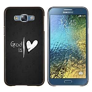 TECHCASE---Cubierta de la caja de protección para la piel dura ** Samsung Galaxy E7 E700 ** --Dios es amor del corazón de Jesús